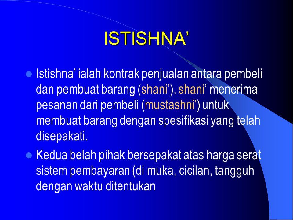 ISTISHNA'