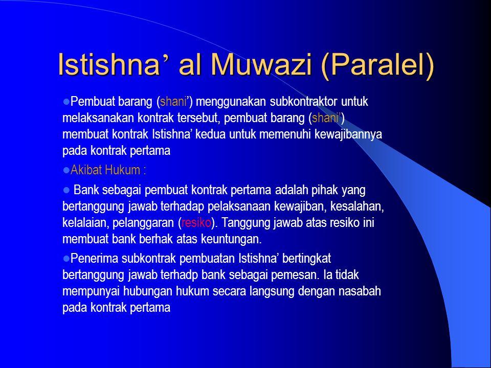 Istishna' al Muwazi (Paralel)