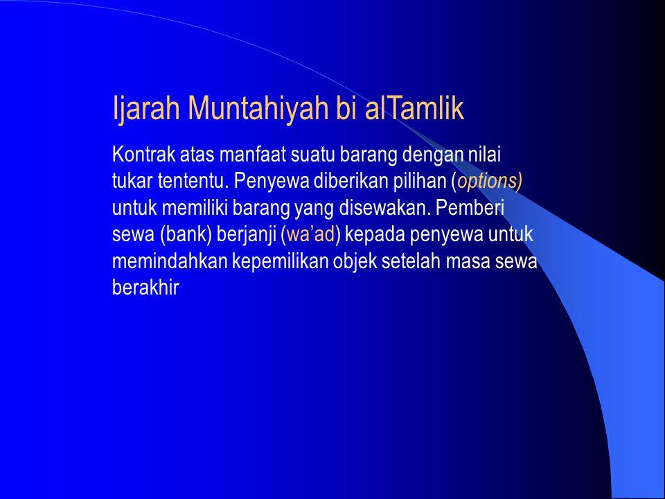 Ijarah Muntahiyah bi alTamlik
