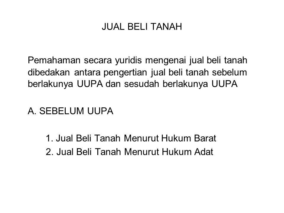 JUAL BELI TANAH