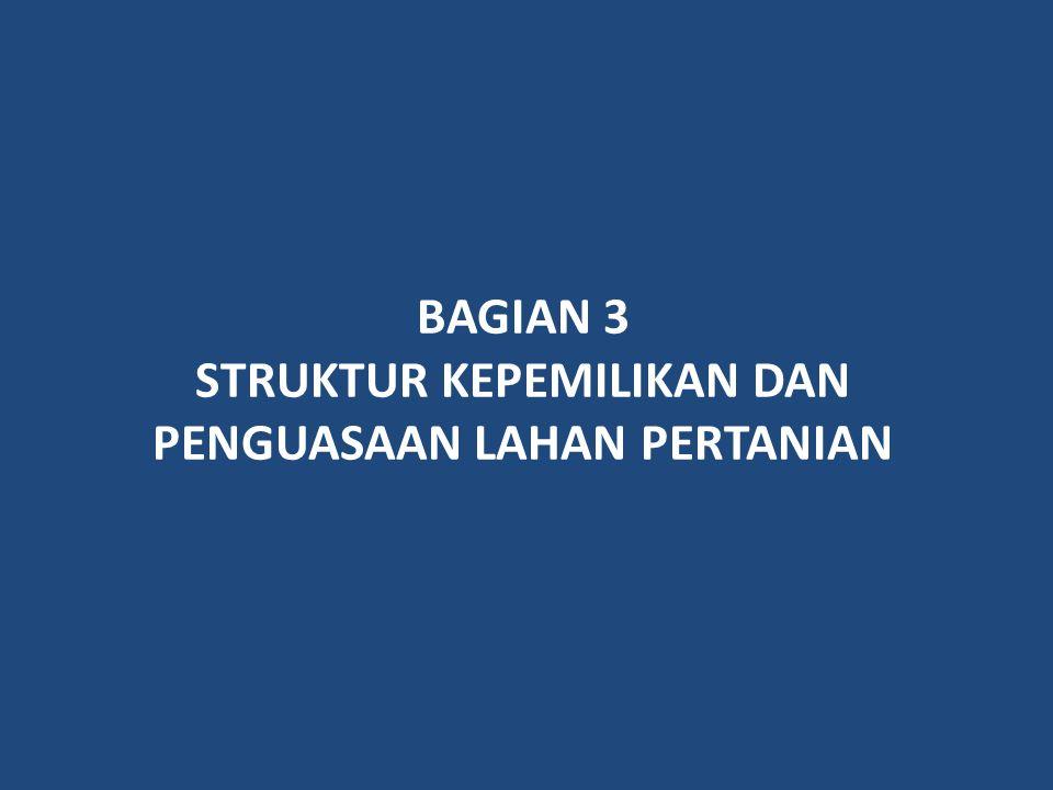 BAGIAN 3 STRUKTUR KEPEMILIKAN DAN PENGUASAAN LAHAN PERTANIAN