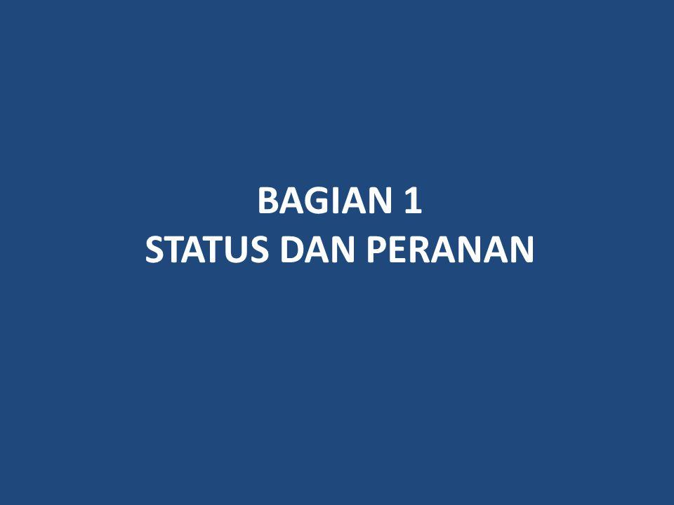BAGIAN 1 STATUS DAN PERANAN