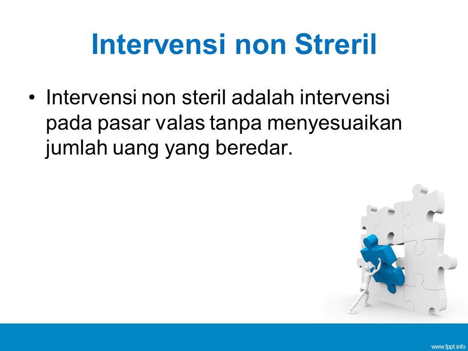Intervensi non Streril