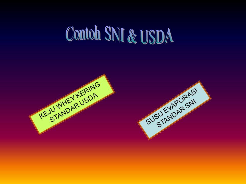 Contoh SNI & USDA KEJU WHEY KERING STANDAR USDA