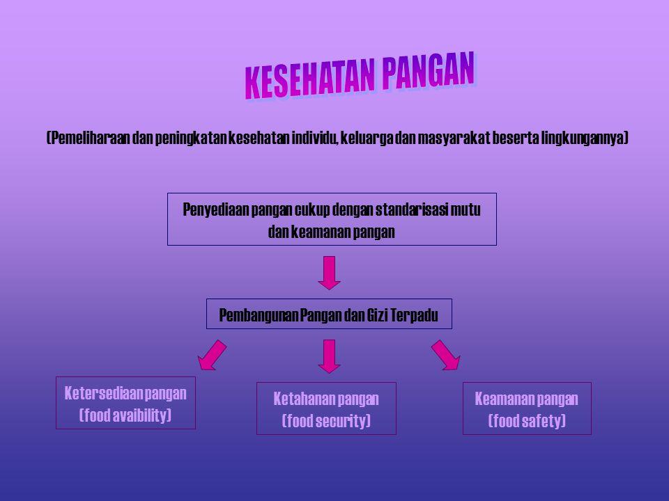 KESEHATAN PANGAN (Pemeliharaan dan peningkatan kesehatan individu, keluarga dan masyarakat beserta lingkungannya)