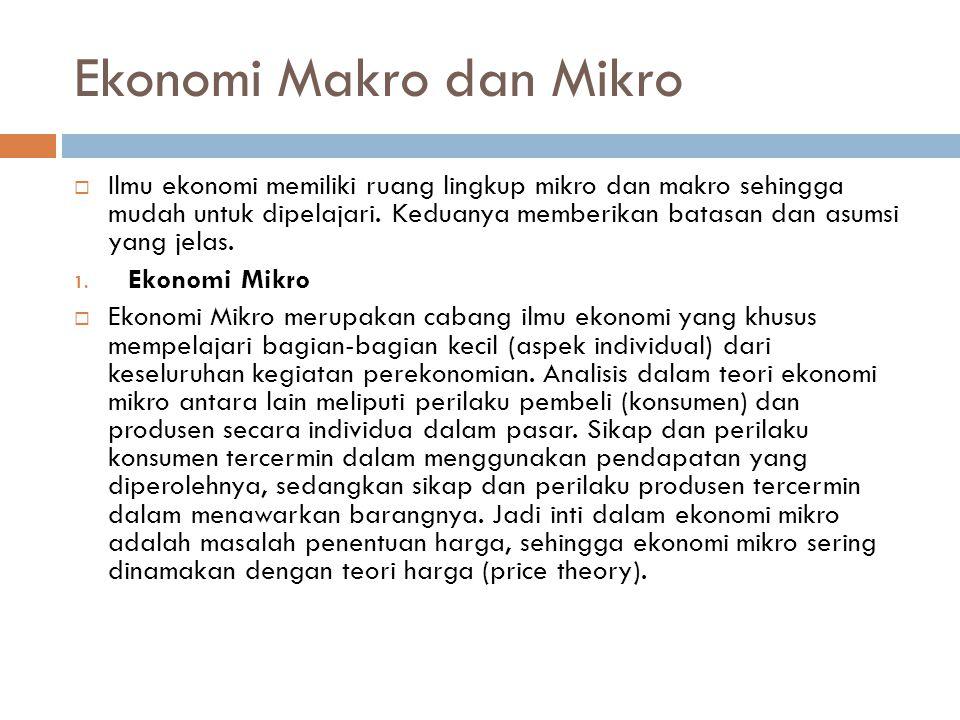 Ekonomi Makro dan Mikro