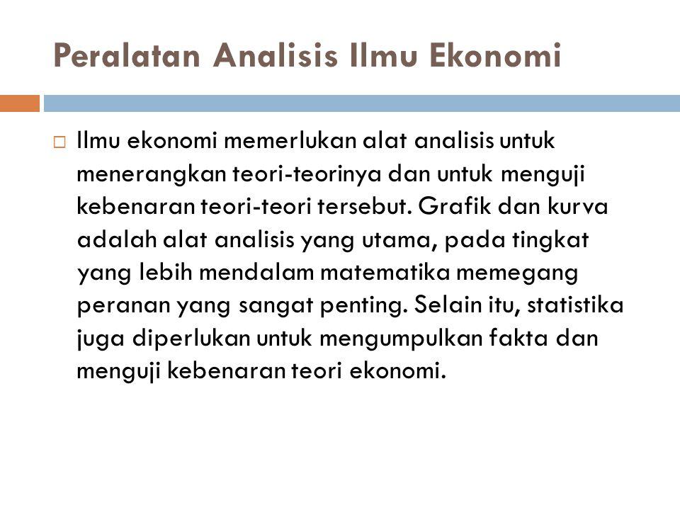 Peralatan Analisis Ilmu Ekonomi