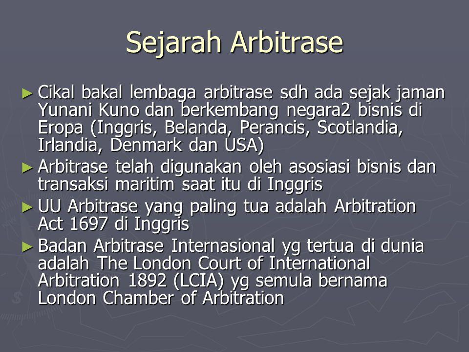 Sejarah Arbitrase