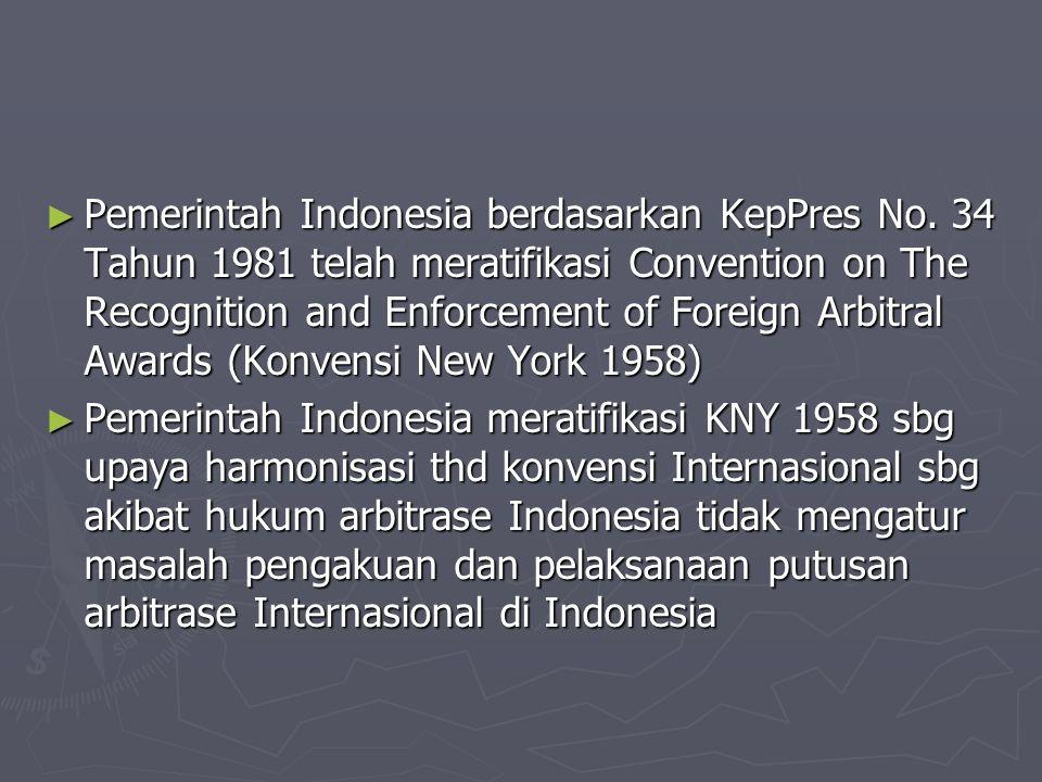 Pemerintah Indonesia berdasarkan KepPres No