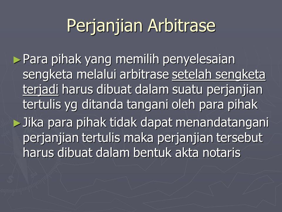 Perjanjian Arbitrase