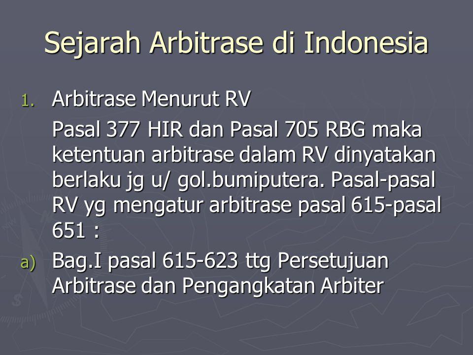 Sejarah Arbitrase di Indonesia