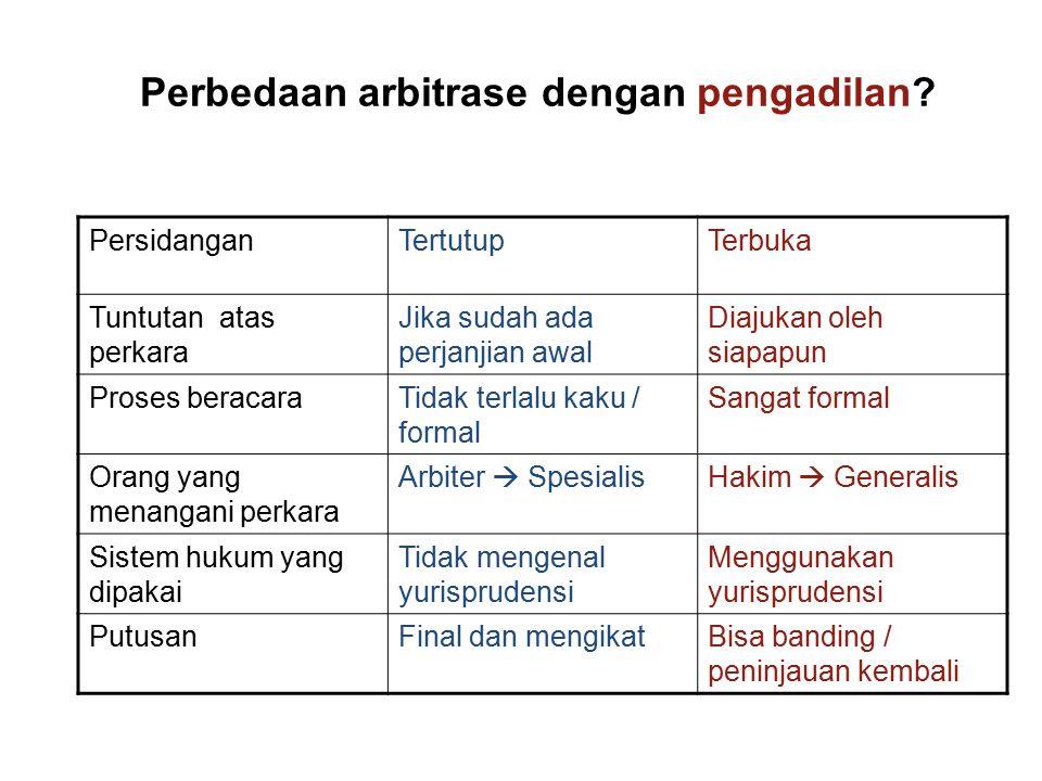 Perbedaan arbitrase dengan pengadilan