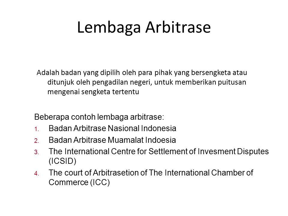 Lembaga Arbitrase