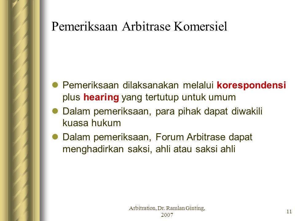 Pemeriksaan Arbitrase Komersiel