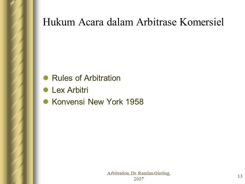 Hukum Acara dalam Arbitrase Komersiel