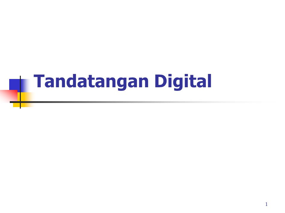 Tandatangan Digital