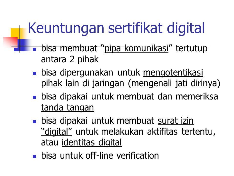 Keuntungan sertifikat digital