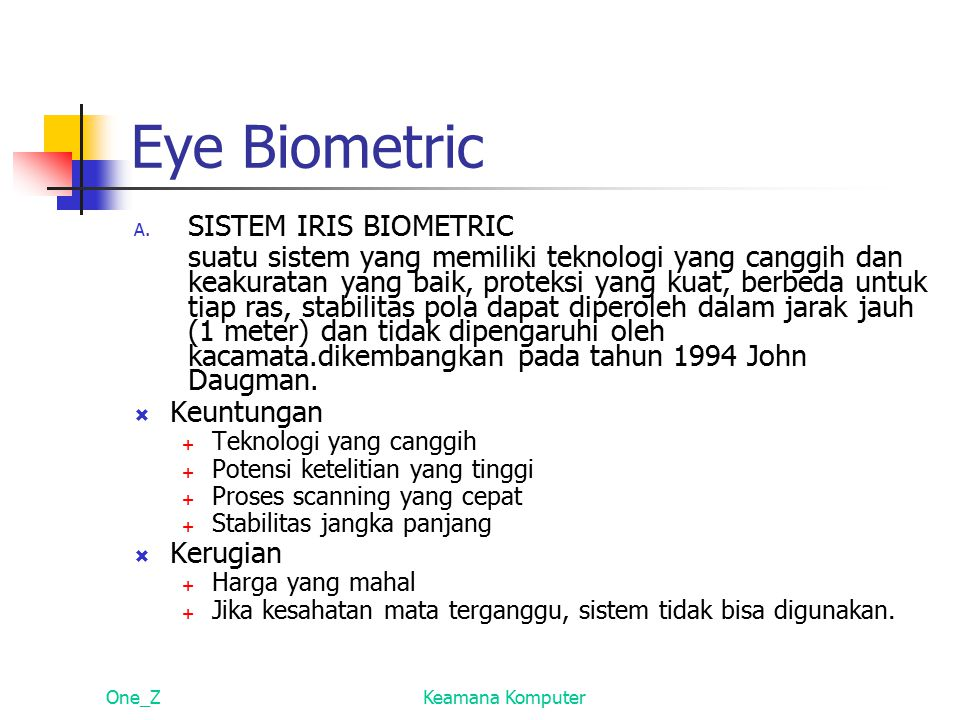 Eye Biometric SISTEM IRIS BIOMETRIC