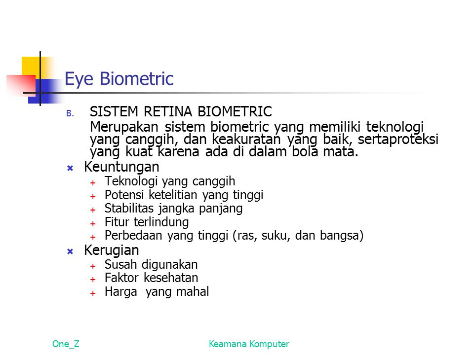 Eye Biometric SISTEM RETINA BIOMETRIC