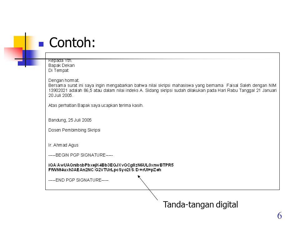 Contoh: Tanda-tangan digital