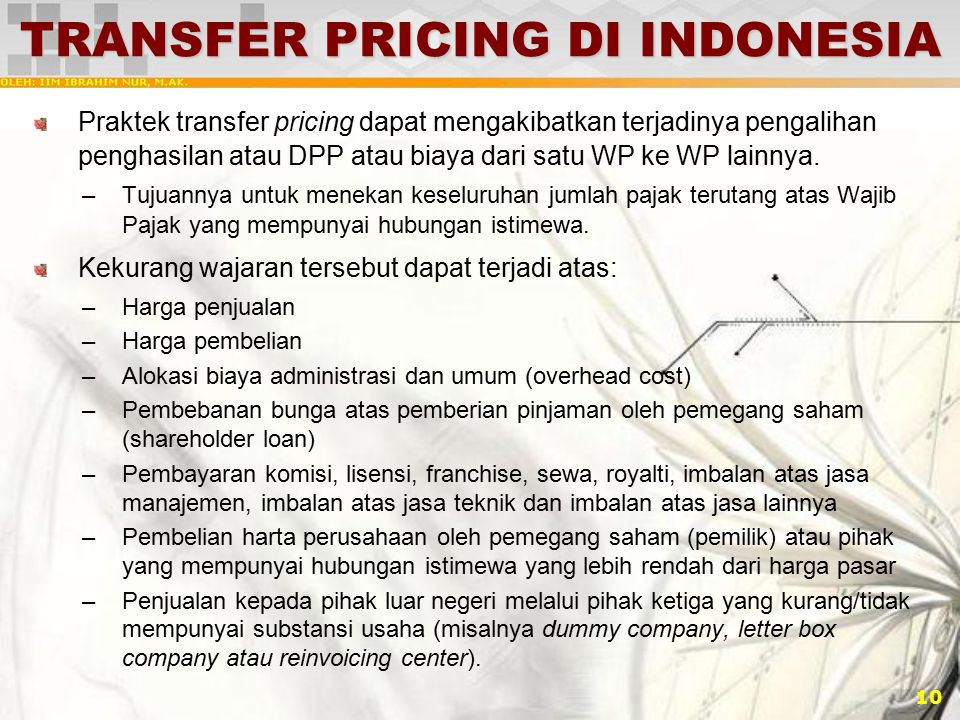 TRANSFER PRICING DI INDONESIA