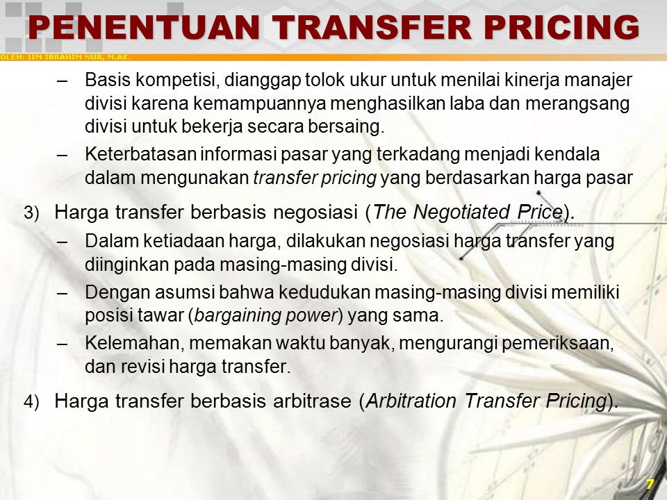 PENENTUAN TRANSFER PRICING