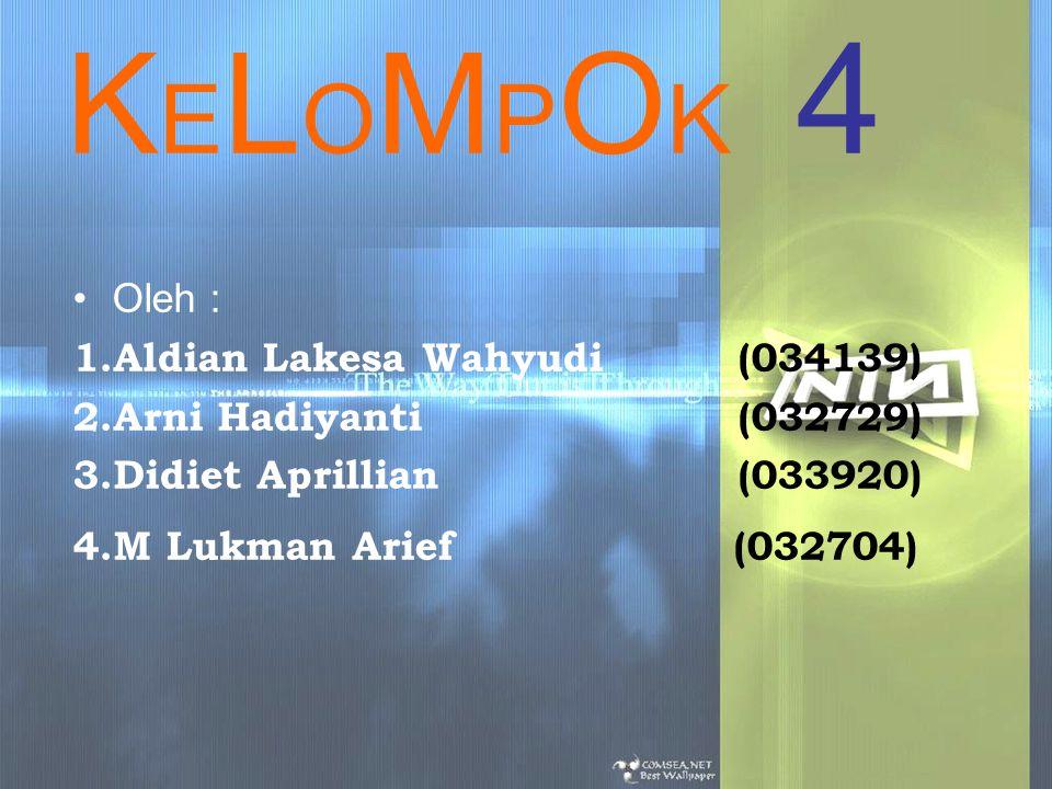 KELOMPOK 4 Oleh : Aldian Lakesa Wahyudi (034139)