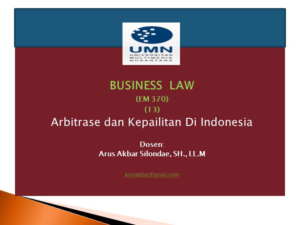 Arus Akbar Silondae, SH., LL.M