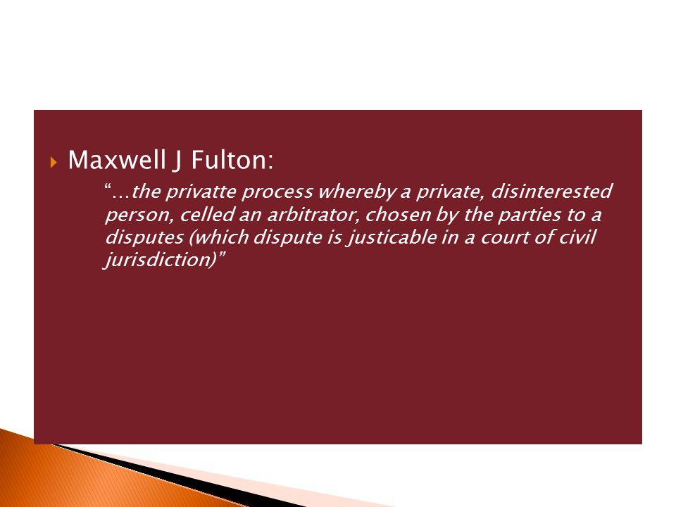 Maxwell J Fulton: