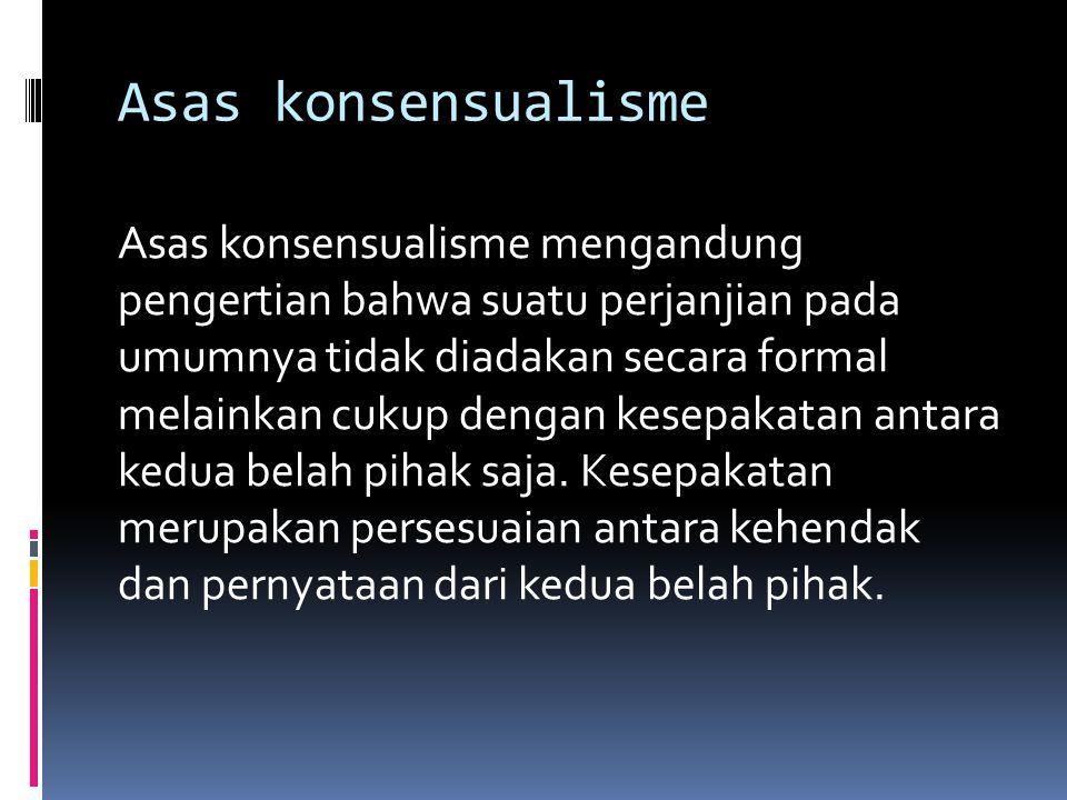Asas konsensualisme