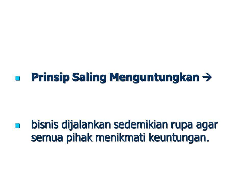 Prinsip Saling Menguntungkan 