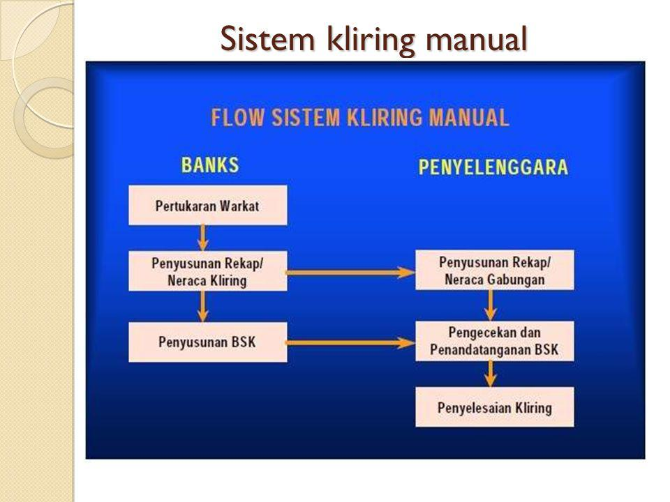 Sistem kliring manual