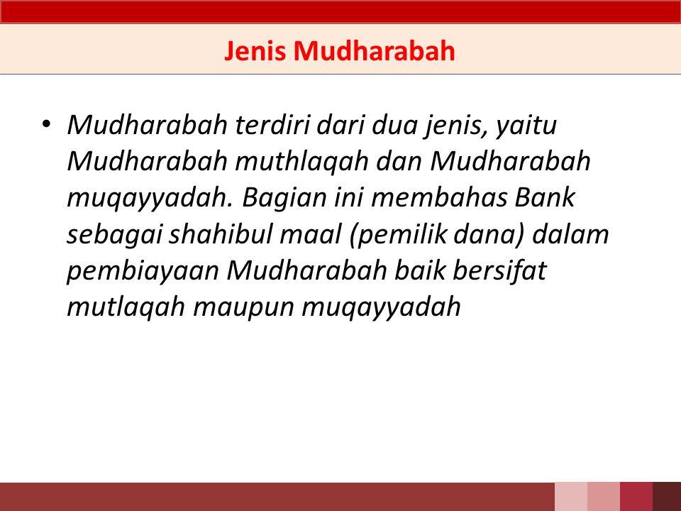 Jenis Mudharabah