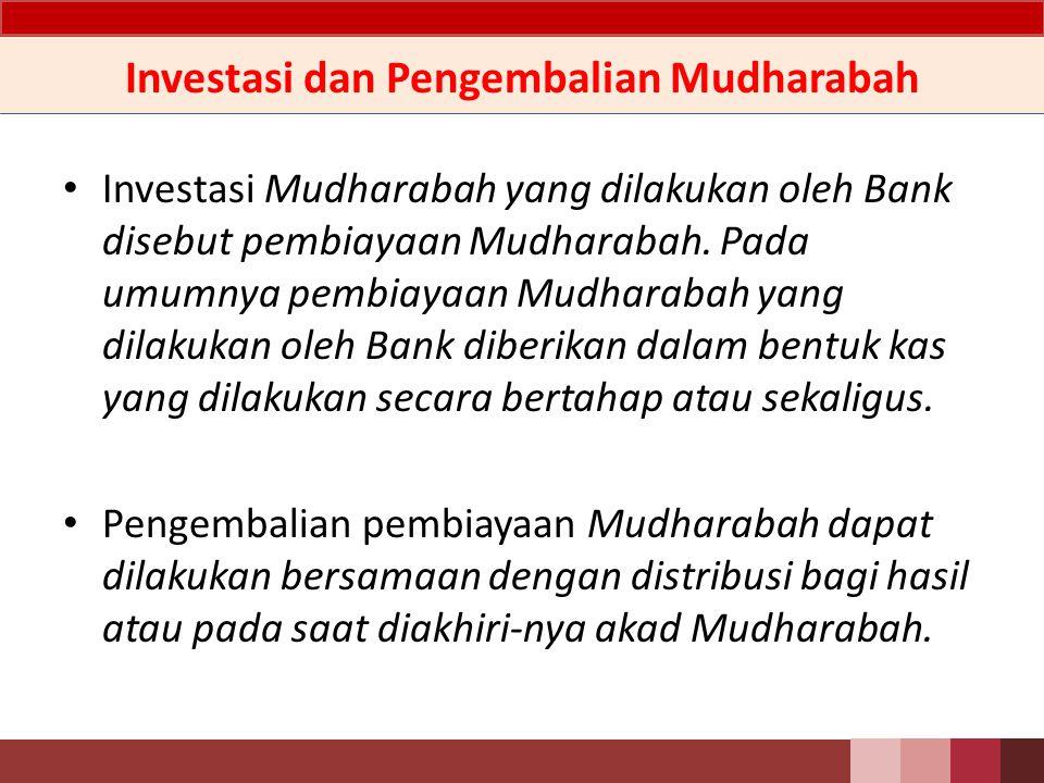 Investasi dan Pengembalian Mudharabah