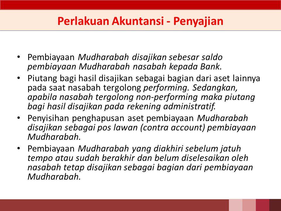 Perlakuan Akuntansi - Penyajian