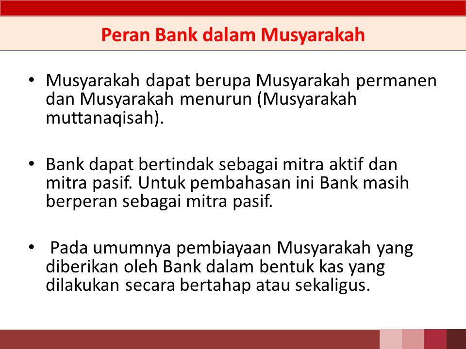 Peran Bank dalam Musyarakah