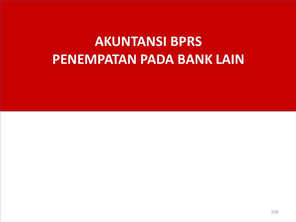 AKUNTANSI BPRS PENEMPATAN PADA BANK LAIN