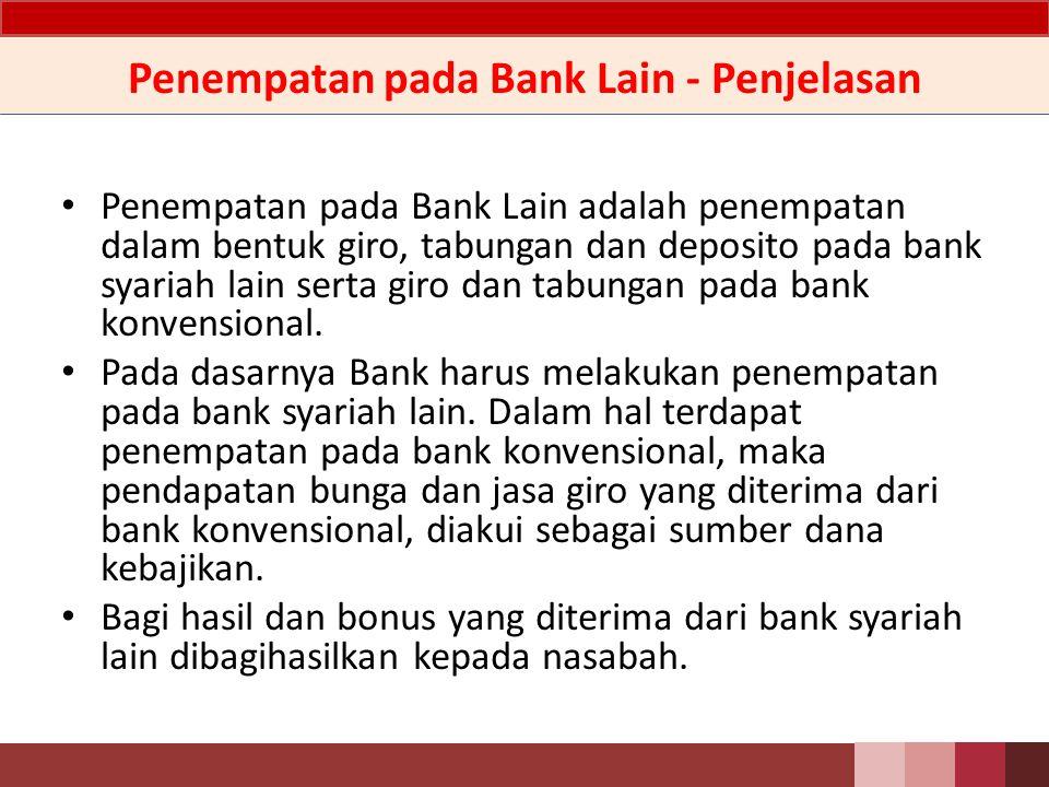 Penempatan pada Bank Lain - Penjelasan