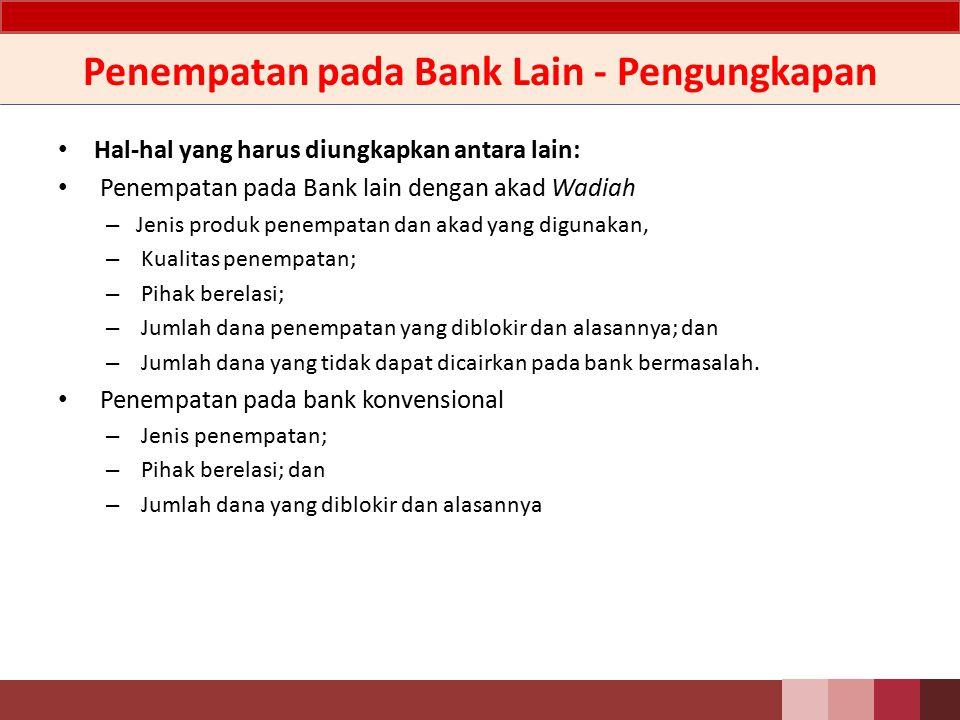 Penempatan pada Bank Lain - Pengungkapan