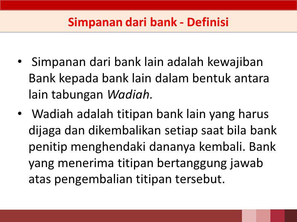 Simpanan dari bank - Definisi