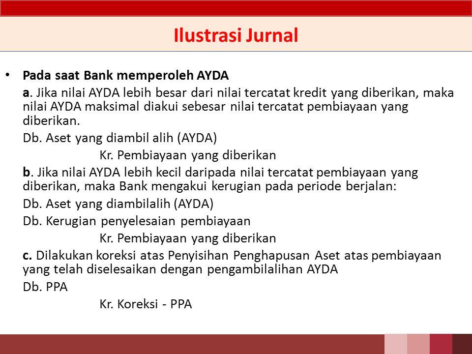 Ilustrasi Jurnal Pada saat Bank memperoleh AYDA
