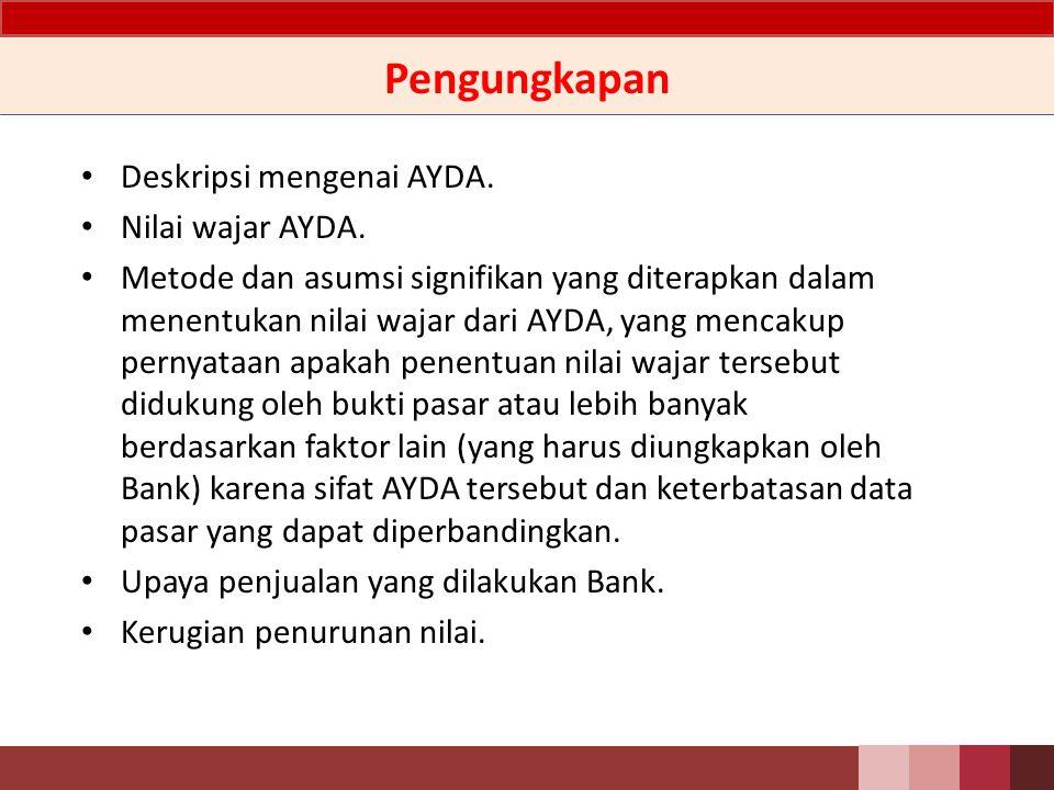 Pengungkapan Deskripsi mengenai AYDA. Nilai wajar AYDA.