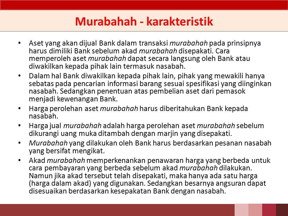 Murabahah - karakteristik