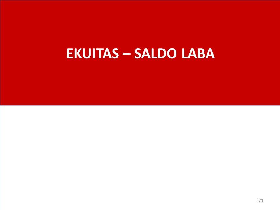 EKUITAS – SALDO LABA