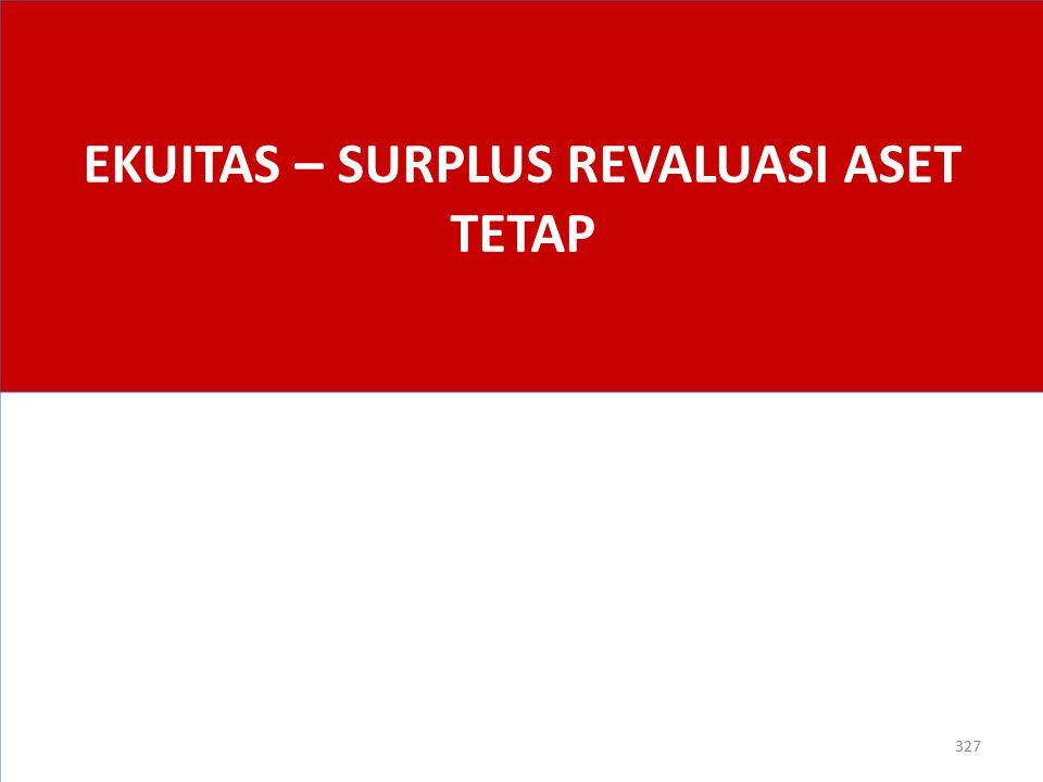 EKUITAS – SURPLUS REVALUASI ASET TETAP