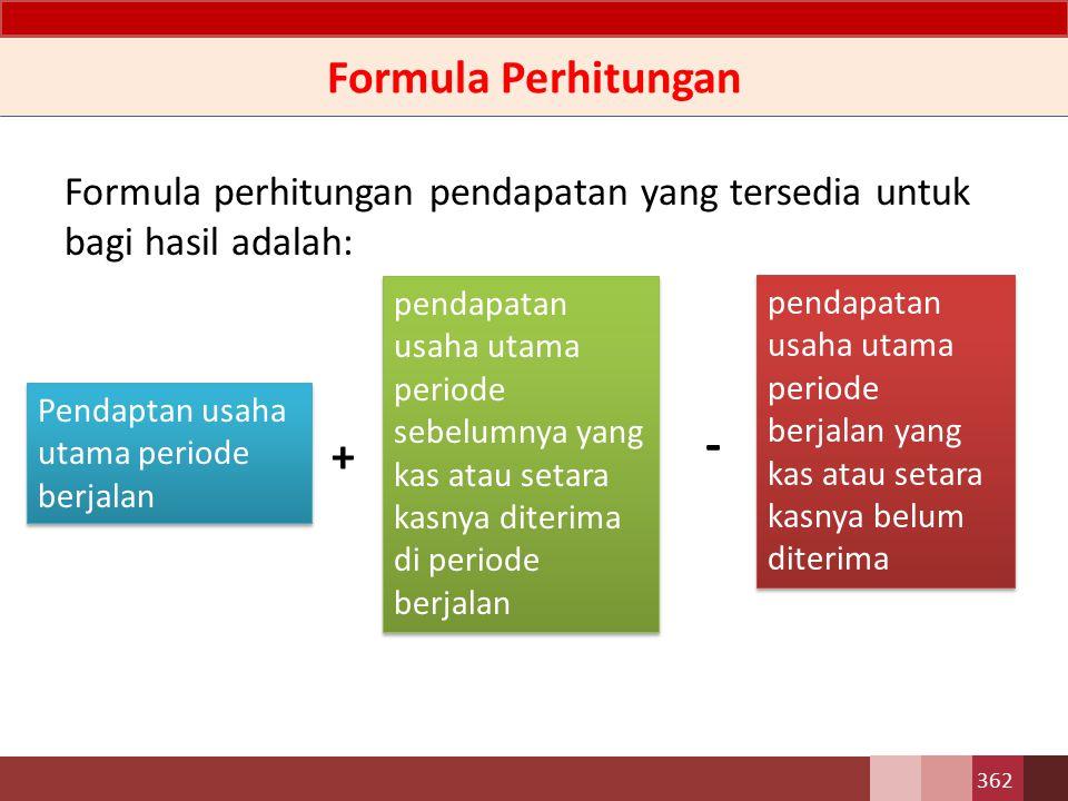 - Formula Perhitungan +