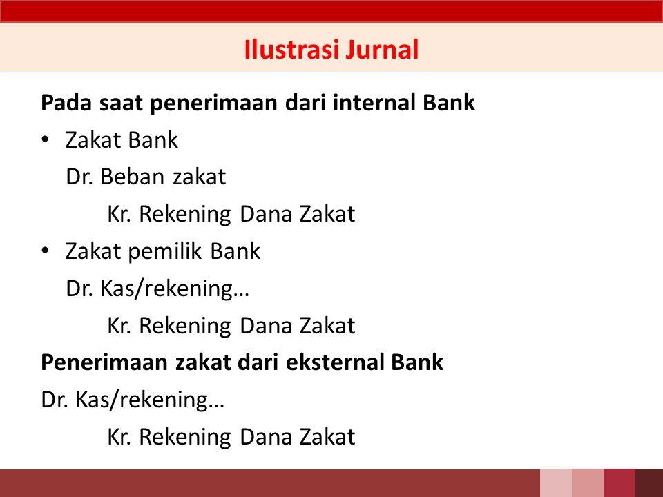 Ilustrasi Jurnal Pada saat penerimaan dari internal Bank Zakat Bank