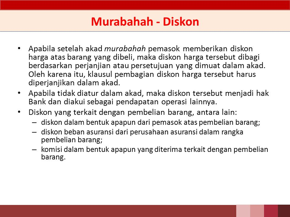 Murabahah - Diskon