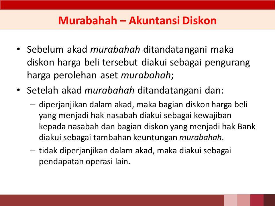 Murabahah – Akuntansi Diskon