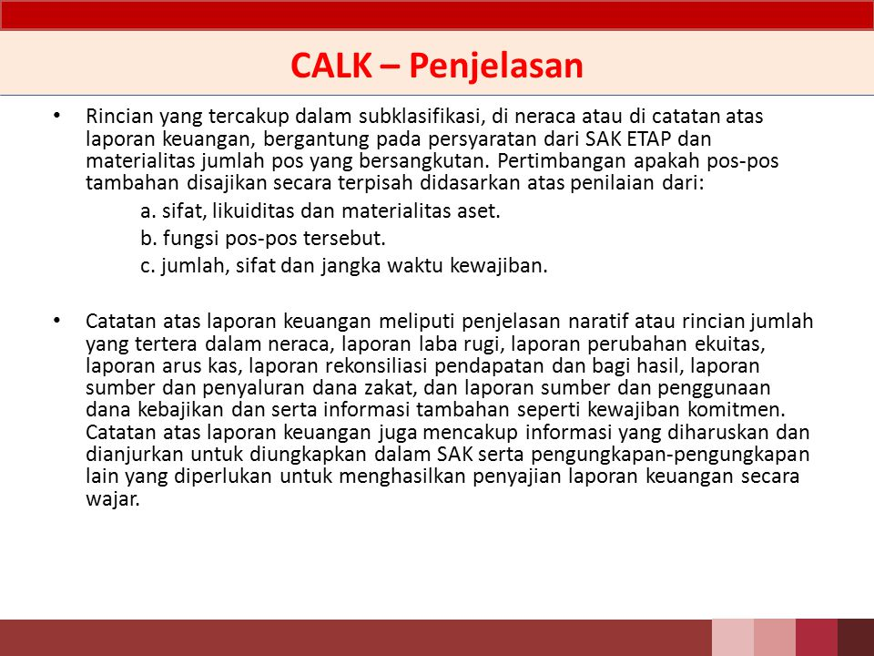 CALK – Penjelasan